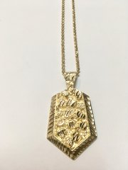 10KT Solid Yellow Gold Beats Chain With Nugget Charm, E0666