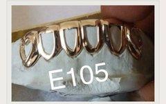 6 Teeth 10kt - open face gold Teeth