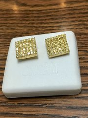 Sterling Silver Yellow Color, A00066-11YG, Screwback Earring