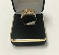 10KT Solid Yellow Gold, Real Diamond Man Rings, E197
