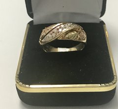 10KT Solid Yellow Gold, Real Diamond Man Rings, E175