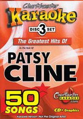 Patsy Cline Chartbuster Karaoke 50 Song Pack Cb5104