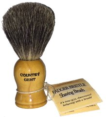 Country Gent Shaving Brush, Badger Bristles, Wood Handle