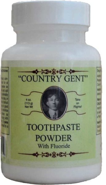 Country Gent Tooth Powder with Fluoride, 4 oz