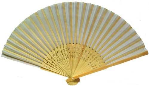 Folding Fan, Light Wood Stays