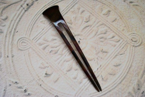 Hair Pin, Wood, Two Pronged