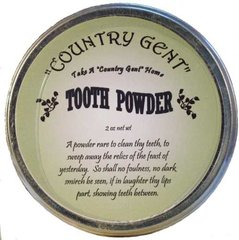 """Country Gent"" Tooth Powder in Tin, 2 oz"