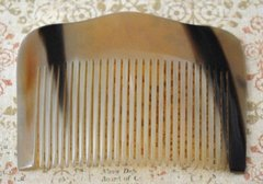 Slide Comb, Fine Tooth Horn