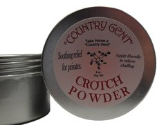 Crotch Powder, 4 oz Tin with Screw on Top includes Puff