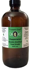 Peppermint Oil, Double Distilled, Food Grade 16 oz.