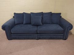 'DELPHINE' 4 SEATER GRAND SOFA IN DENIM FABRIC