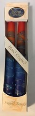"Safed Candles 7"" Taper Candles Pack of 2 in assorted colors - Made in Israel"