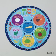 "PASSOVER PLACEMAT, VINYL, 11.5"" ROUND"