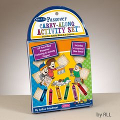 PASSOVER CARRY-ALONG ACTIVITY SET, 50 PGS, 6 CRAYONS