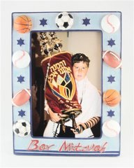 Picture Frame Sports Bar Mitzvah, Photo Size 4 Inches X 6 Inches