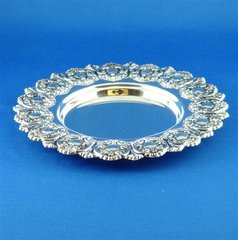 Tray Escoporto, Sterling Silver For Kiddush Cup 6.25 Inches Diameter Inside Opening 3/4 Inches , Made In Israel