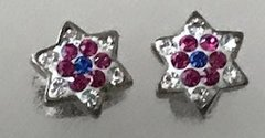 Earrings Sterling Silver Star of David Studs Colors or White