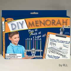 D-I-Y MENORAH KIT, 40+ PIECES, COLOR BOX