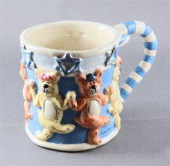 Mug Dancing Bears - Clayworks by Heather Goldmine