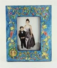 Picture Frame Handpainted Wood By Yair Emanuel Photo Size 4 Inches X 6 Inches