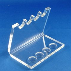 Lucite Stand For 4 Yads, Clear/Small - Great For Yad Collector/Display
