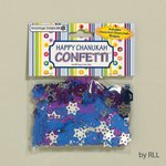 Happy Chanukah Confetti - Includes Assorted Chanukah Shapes