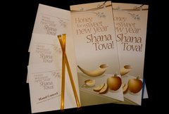 Gift Card For Rosh Hashanah, Includes 1 Honey In A Straw And Envelope Or 12 Cards/Honey And Envelopes Pack Of 12
