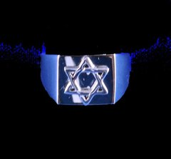 Men's Ring Star of David Silver