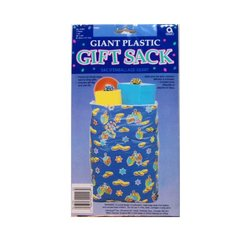 Giant Plastic Gift Sack, Perfect For Those Large, Hard To Wrap Items  Includes Gift Tag And Yarn Tie!