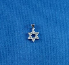 Charm Star of David SS W/Zirconia Stone