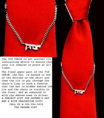 Sterling Silver Hebrew name in a Tie Chain - Great Father's Day Gift!!!