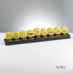 Emoji Hand Painted Ceramic Menorah
