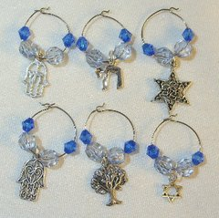 Wine Glass Charms available in Blue and Lavender