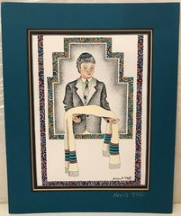 """Bar Mitzvah"" Print Matted by Miriam Novack"