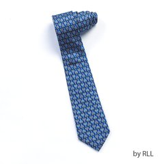 "CHANUKAH TIE, SILK, ""MANY MENORAHS"", GIFT BOX"