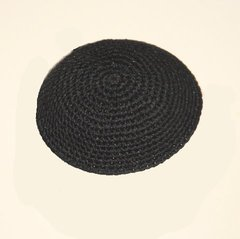 Kippah Crochet Black Thick Stitch