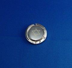 Handbag Table Holder Silver Finish With Star Of David Design
