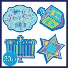 Chanukah Cutouts - 30 Pieces Value Pack