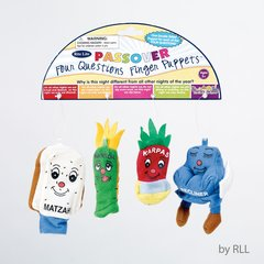 "PASSOVER THE ""FOUR QUESTIONS"" FINGER PUPPETS, SET OF 4"