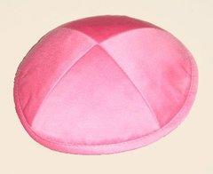 Kippah Suede Hot Pink