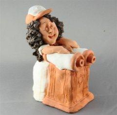 Figure Bat Mitzvah Ceramic, Hand Made in Israel