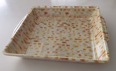 "Matzah Plate Plastic Disposable 9.25"" Square"