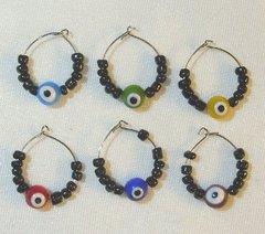 Wine Glass Charms w/Eyes - 6/set