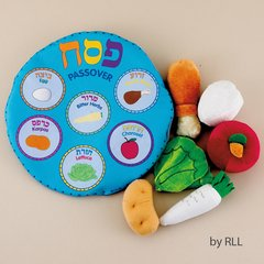 MY SOFT SEDER SET, 6 SYMBOLS IN CONVENIENT STORAGE POCKET