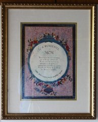 PICTURE TRIBUTE TO A WONDERFUL MOM - Framed