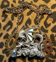 Dragon and Gears Necklace
