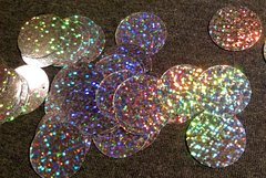Large Holographic Round Paillettes - Silver