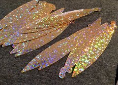 Holographic Long Teardrop Paillette - Gold