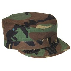 Woodland BDU Patrol Cap hat cover