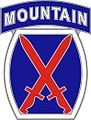 10th Mountain Division (Light Infantry) patch